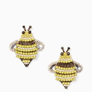 Kate Spade Earrings –Jeweled Bee Statement Studs